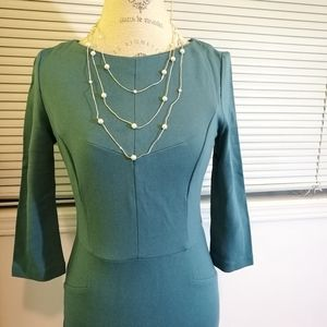 FREE NWOT Dark Turquoise Dress Size S